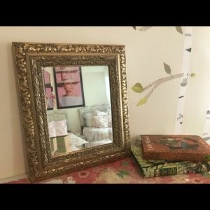 Other - Vintage metal gold painted mirror